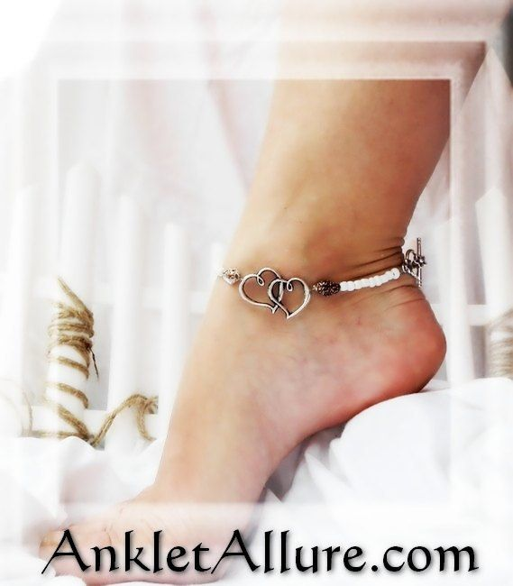 Unique Anklets ~Ankle Bracelets ~ VERY Hard To Break ! Shell Anklet Beach Resort Cruise Vacation Tribal BoHo Beach Gypsy Ankle Bracelet Sand Gypsy Slave Bracelet  Peasant Skirts Gypsy Skirts & Sandals Antiqued Double Heart Charm Tiger Shell Accents White Glass Beads Silvertone Flower Toggle Securely Connected HARD TO BREAK  Double Wrapped Crimp Beads approx 10 in Length Requests Accepted Each design is tested before put up for sale. All Pictures Are Actual, Photographed by Myself.    Item...