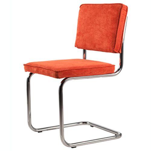 Zuiver Stoel Ridge Rib Oranje - Stoelen | Design meubelen en de laatste woontrends
