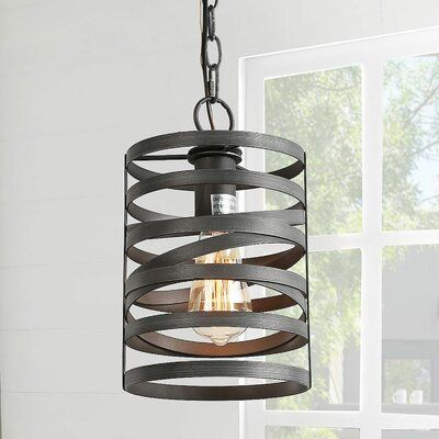 Wrought Studio Glennville 1 Light Single Cylinder Pendant With