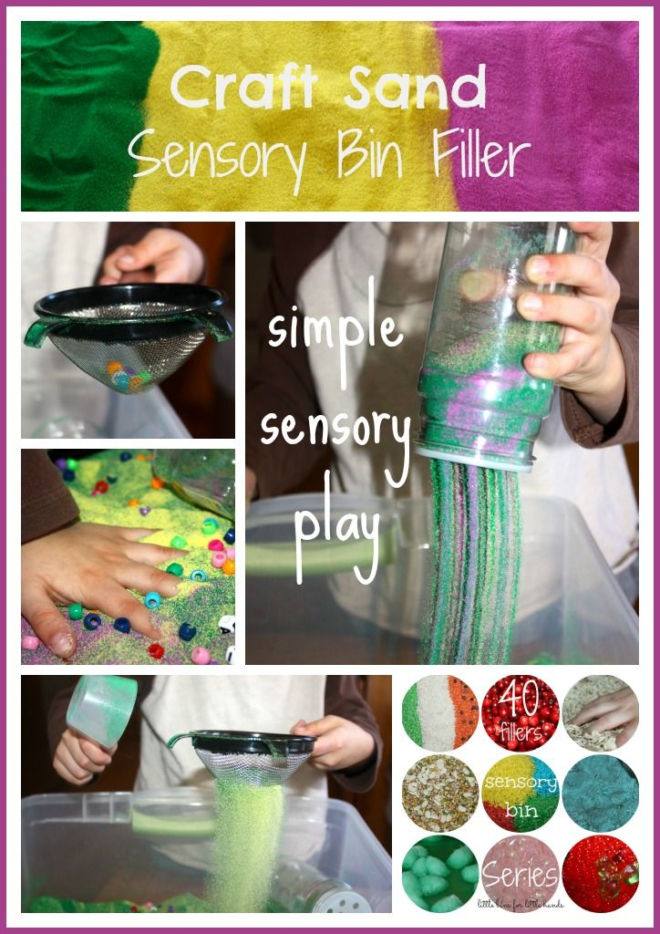 Spring Craft Sand Sensory Bin