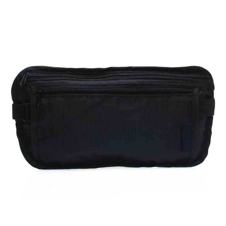 Unisex Waist Bum Fanny Pack Bag Pouch Nylon Outdoor Sports Black MQ #Unbranded
