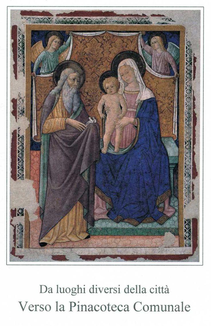 Pierantonio Mezzastris - Madonna con Bambino e San Simeone - seconda metà sec. XV. -  Foligno, Pinacoteca comunale