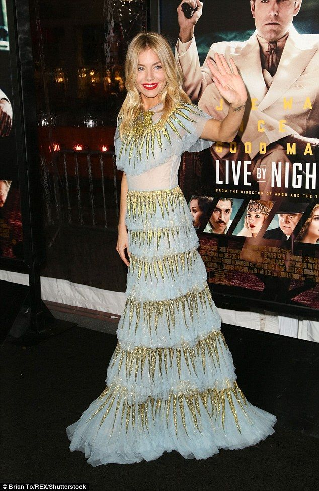 Sienna Miller gets cosy with co-star Ben Affleck at Live By Night premiere | Daily Mail Online