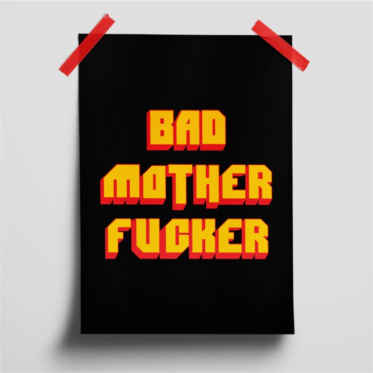 Pana Poo - Pôster Pulp Fiction | Bad Motherfucker    Poster | Decoração | Decor | Decore | Decora | House | Decorating     DISPONÍVEL EM: www.panapooatelie.com.br