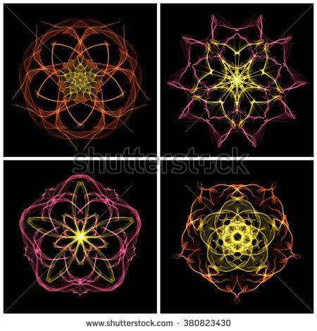 Fractal bloom set five angles