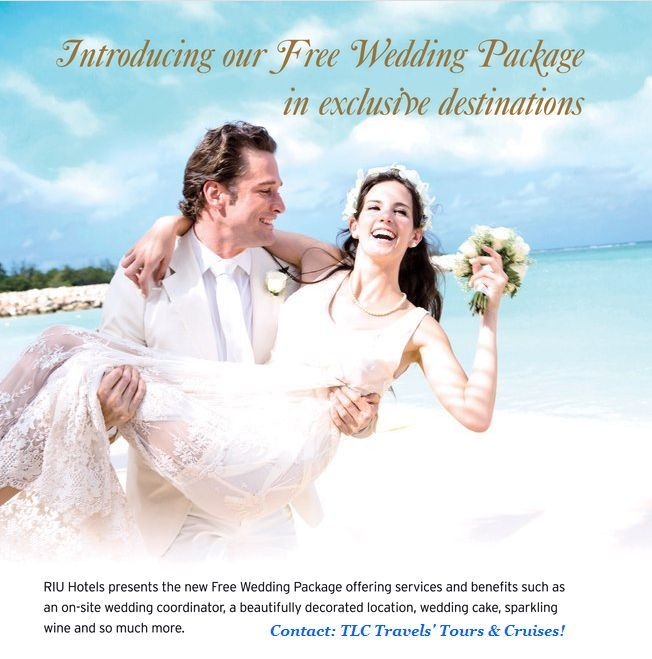 When you choose all-inclusive RIU Hotels & Resorts for your destination wedding, you can save up to $225 per booking on a flight and hotel vacation package to Mexico or the Caribbean at #DeltaVacations -ends 3/29/14 #DestinationWeddings available at #TLCTravels' Tours & Cruises!