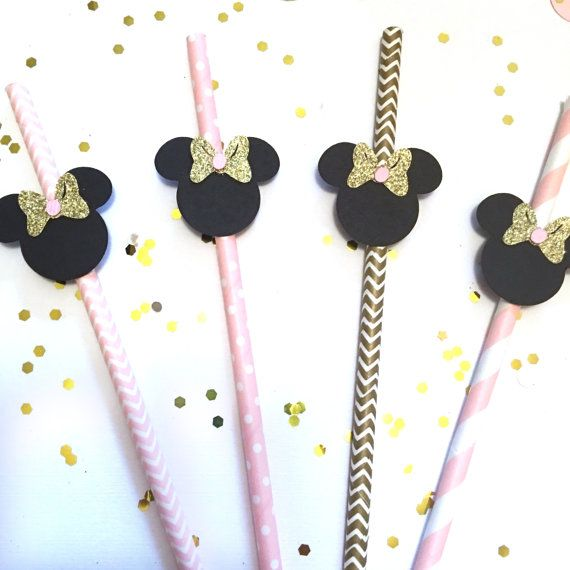 Minnie Mouse cannucce / rosa e oro / Minnie di GreatCrafternoon