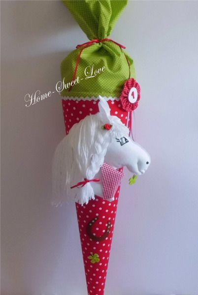 """Schultüten - Schultüte """" Pony Paula """" Zuckertüte P... - ein Designerstück von Home-sweet-love bei DaWanda"""