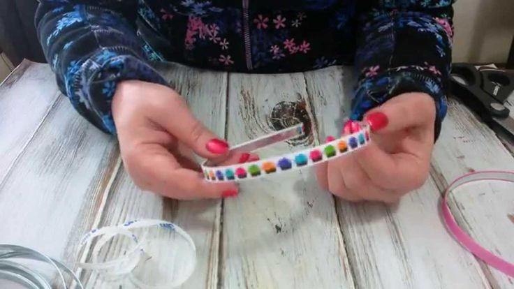 How to ribbon line a metal headband using Triple Duty Double sided Tape.