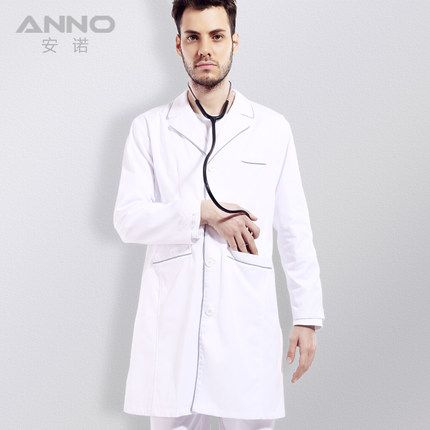 Top male doctor's classic white lab coat long sleeve hospital Doctor medical clothing 15DL010 Anno