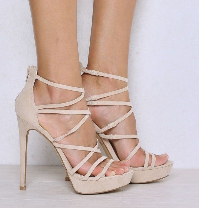 Love these sexy heels by LIPSTIK. Perfect with shorts, dresses, skirts or even under some jeans.  NEELA CASHEW MICRO HEELS