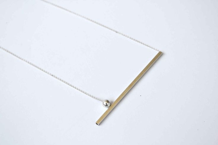 Linea punto necklace - silver