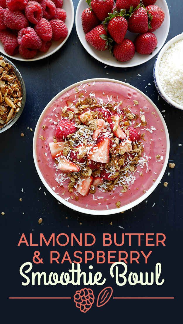 Almond Butter and Raspberry Smoothie Bowl