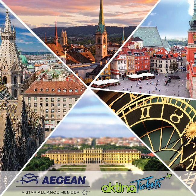 ☛Νέα εβδομάδα και νέα προσφορά από την Αegean Airlines!! Πετάξτε με έκπτωση έως 40%.Για πτήσεις από/προς προς Βιέννη, Βουδαπέστη,Ζυρίχη,Πράγα και Βαρσοβία. •20/11/2014 – 15/12/2014 20% •16/12/2014 – 15/01/2015 30% •16/01/2015 – 31/03/2015 40% Κρατήσεις μέχρι 14.10.2014 www.aktinatickets.gr Πτήσεις από 20.11.2014 μέχρι 31.03.2015