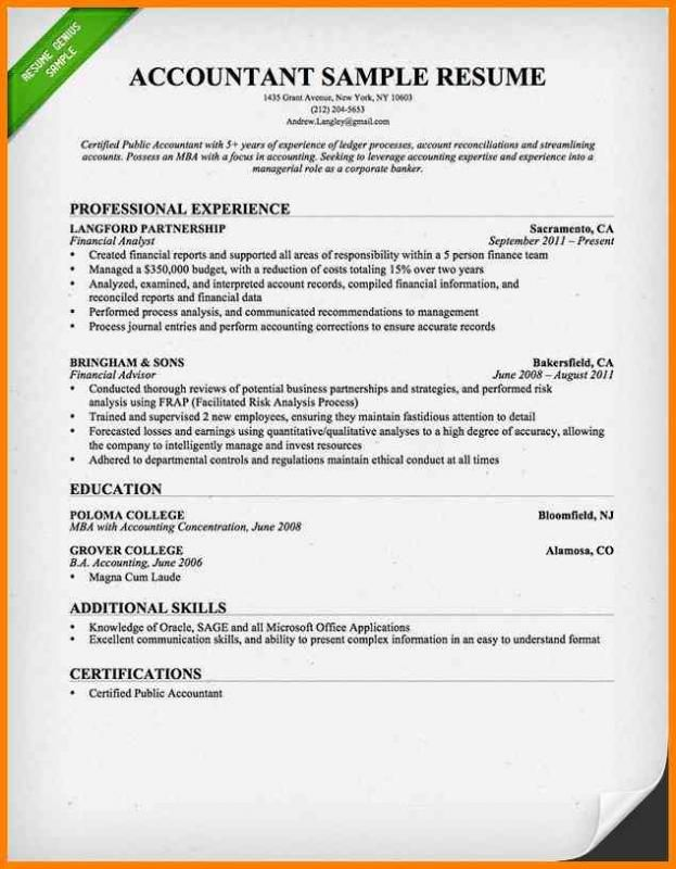 Objective For Resume For Freshers Accountant Resume Free Resume Template Word Resume Words
