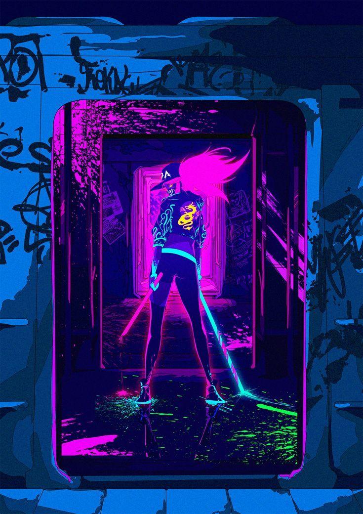 Wallpaper Kda Pop Star Akali League Of Legends League Of