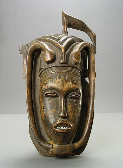 Africa | Face Mask from the Senufo people of northern Ivory Coast or Mali | Wood | 20th century