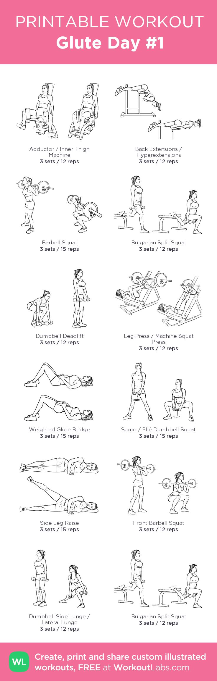 Glute Day #1 & #2