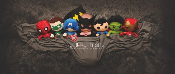 Newborn Superhero Batman Costume for Newborn by pitterpatcrochet
