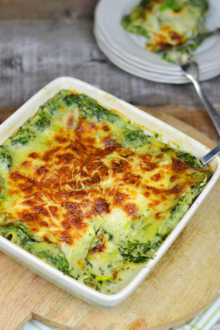 Soul food vegetarisch: Spinat Lasagne mit Gorgonzola   Das Knusperstübchen