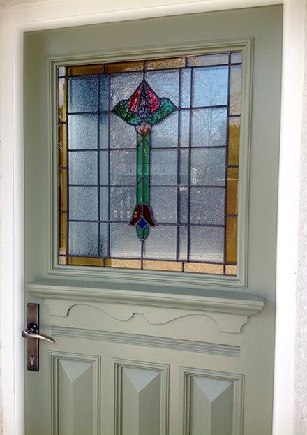 14 best images about 1920s 1930s front doors on for 1930s stained glass window designs