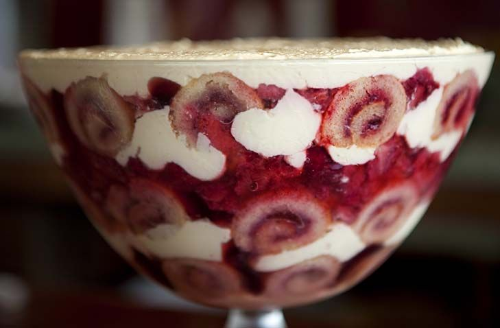 Sean Moran's retro strawberry trifle is a striking strawberry extravaganza that will have your guests grabbing their dessert spoons.