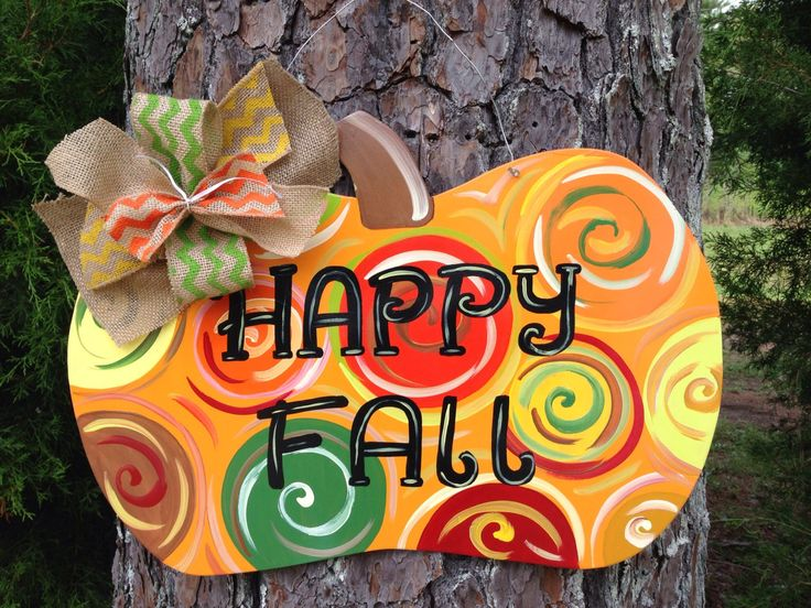 Fall Pumpkin door hanger fall door decor by Furnitureflipalabama, $30.00
