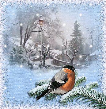 Καλό χειμώνα animation πρωί εικόνα