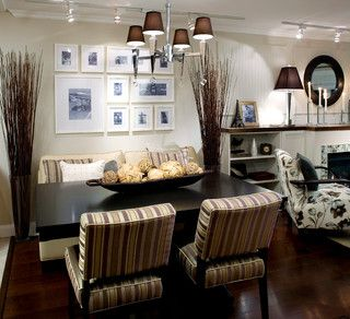 Candice Olson Margo 4-Light Chandelier in Brown. Chrome finish with crystal accents and brown poly-silk shades. Uses 4 60W candle bulbs.