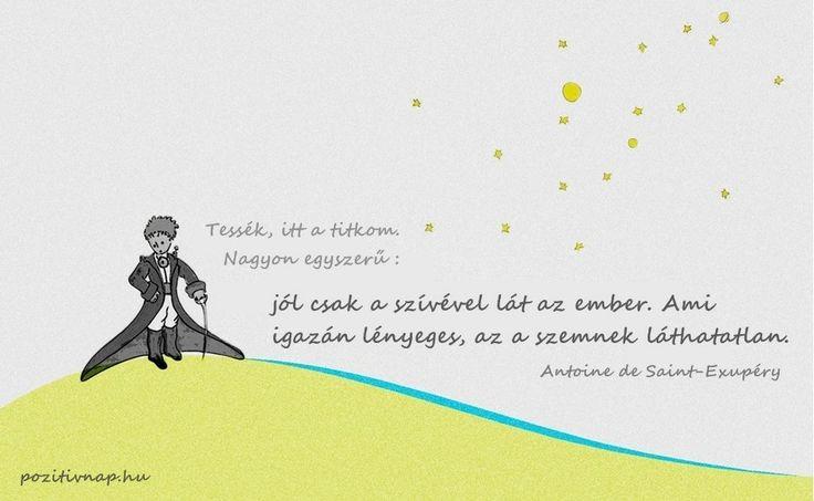 Antoine de Saint-Exupéry #idézet