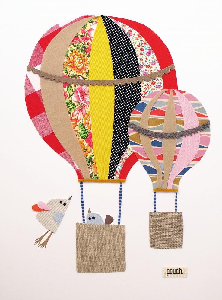 Leuke afbeelding luchtballon voor schilderij