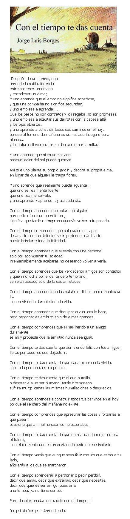 Jorge Luis Borges... y uno aprende...