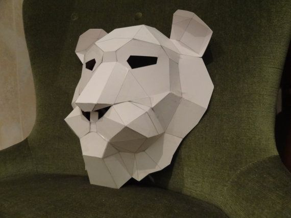 You are buying the templates with simple instructions to make your own LION paper mask from cardboard. They are supplied as PDF and available as
