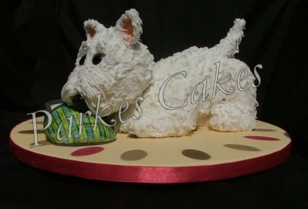 how to make a 3d westie cake