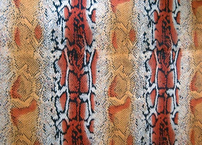 Snake skin fabric