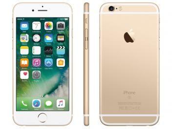 """iPhone 6s Apple 32GB Dourado 4G Tela 4.7"""" - Retina Câmera 5MP iOS 10 Proc. A9 Wi-Fi   R$ 2.999,00em até 10x de R$ 299,90 sem juros no cartão de crédito"""