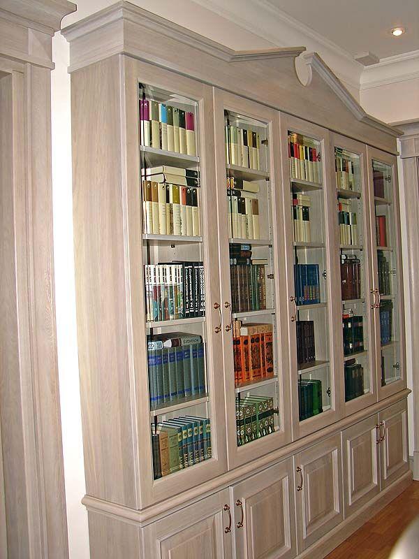 Библиотека из массива дерева-Мебель на заказ: кухни, шкафы, библиотеки, столы