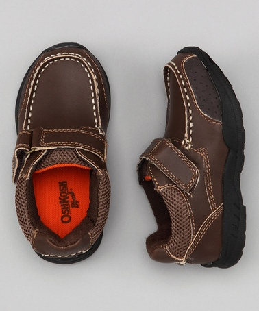 Take a look at this Brown Charles Shoe by OshKosh B'gosh on #zulily today!