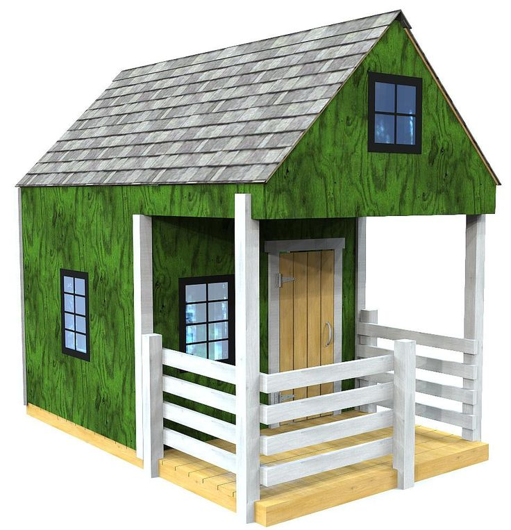 The Green Playhouse Plan | Playhouses, Woodworking plans ...