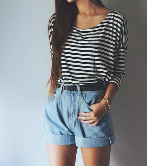 25  best High waisted shorts outfit ideas on Pinterest | High ...