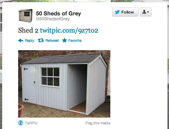 50 sheds of grey...amazing Twitter account.  A must follow for fans of the book.