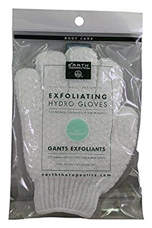 Exfoliating Gloves,White By Earth Therapeutics – Pair, 6 Pack Review