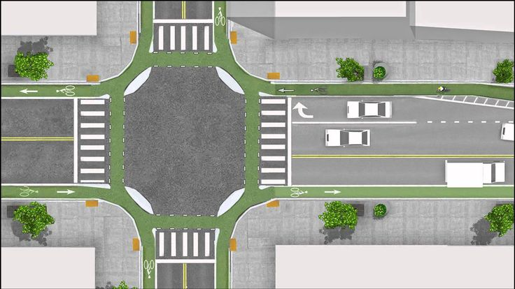 """Cycle-friendly """"Dutch junction"""" beautifully explained in this video. Click image to watch via Bicycle Dutch & visit our popular Streets for Everyone board >> http://www.pinterest.com/slowottawa/streets-for-everyone/"""
