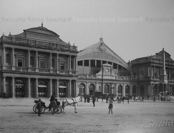 La stazione Termini di Salvatore Bianchi rimasta in piedi fino al 1939. Fotoarchivio Alinari  (Roma Sparita)