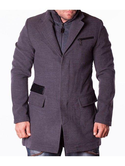 Palton barbati sport elegant Enos gri