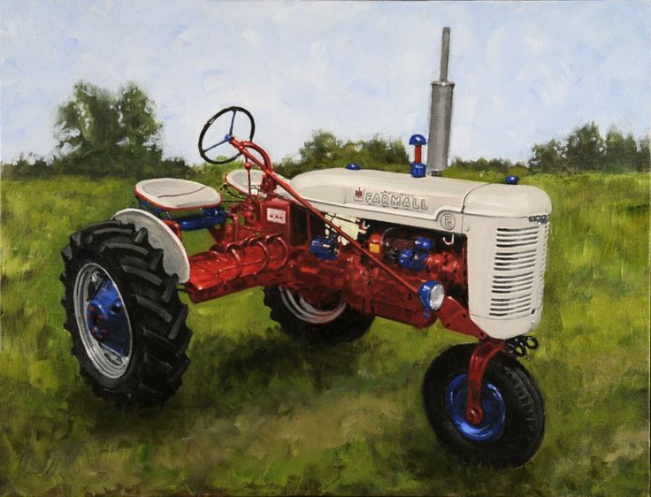 Love old Tractors. $625 at Post and Paint.com