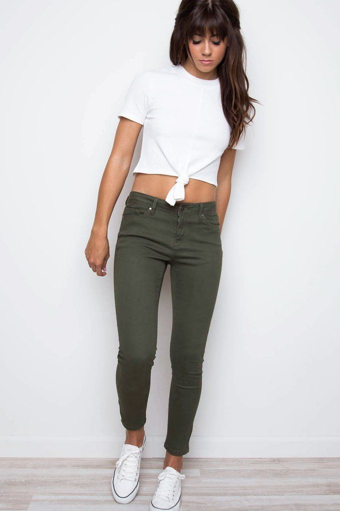 Best 25  Green jeans ideas on Pinterest