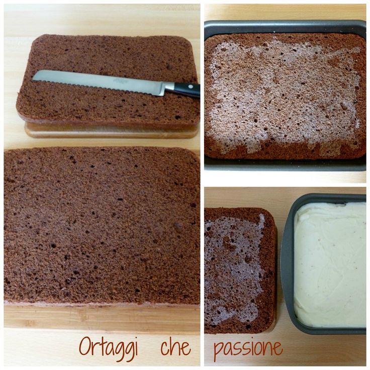 Farcitura Pan di Spagna al cioccolato rettangolare, Ortaggi che passione by Sara