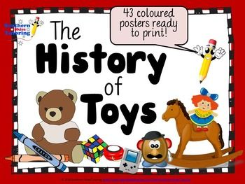 The history of toys posters - available in store now!  43 brightly coloured posters. Click on picture to see further details.
