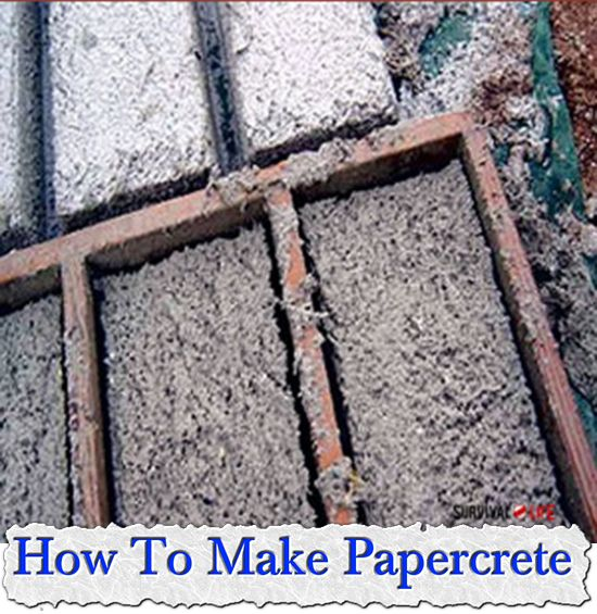 How To Make Papercrete: Papercrete is a cement with fibers of some kind in it. These fibers can be just about anything, from paper and cotton to hemp, jute, flax, wool ect. These fibers add strength to the cement, just as glass fibers add strength to fibreglass. In the case of papercrete, these fibers can actually make up the bulk of the mix, resulting in a product that is both lightweight and strong.